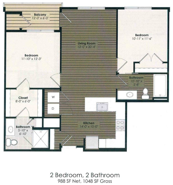 2 Bedroom - Doyle