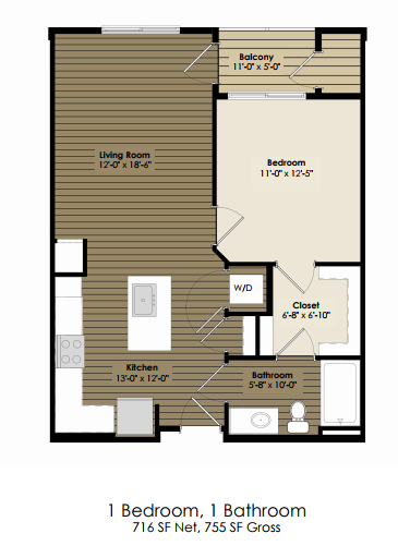 1 Bedroom - Dickens