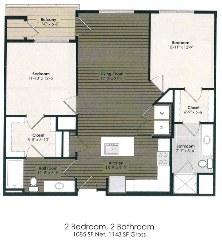 2 Bedroom - Carroll