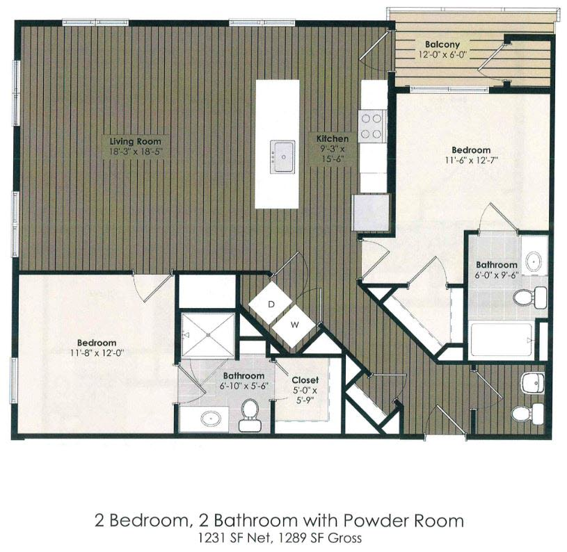 2 Bedroom - Stevenson