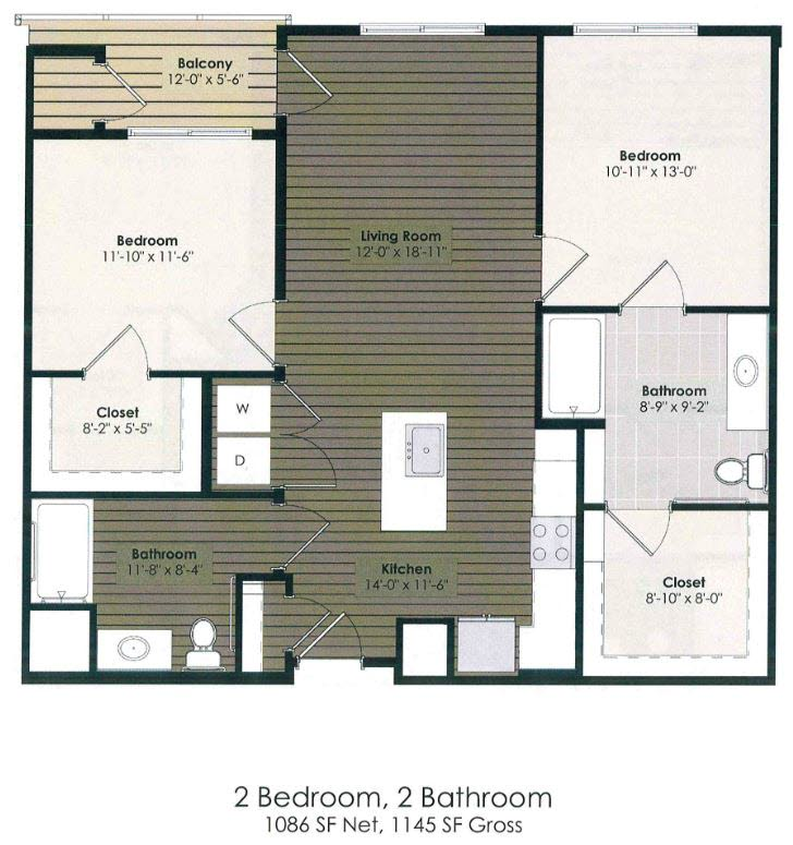 2 Bedroom - Leroux